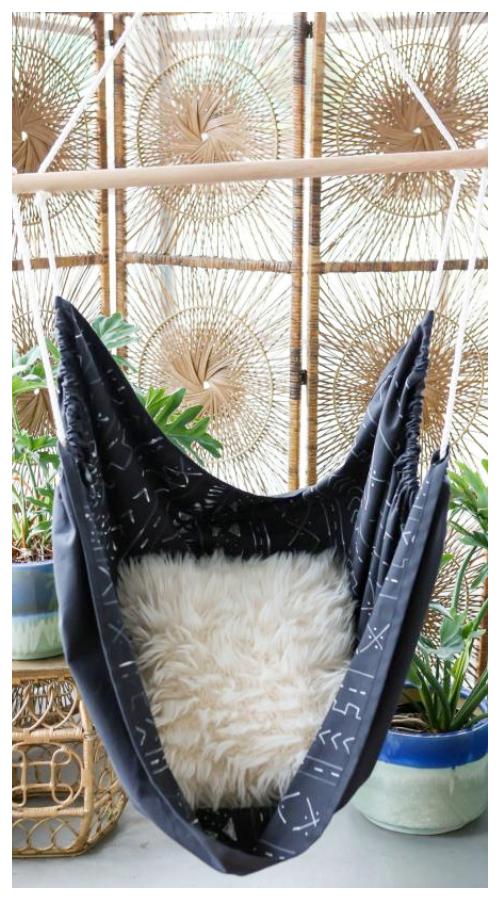 Easy DIY Mudcloth Fabric Hammock Chair Tutorials
