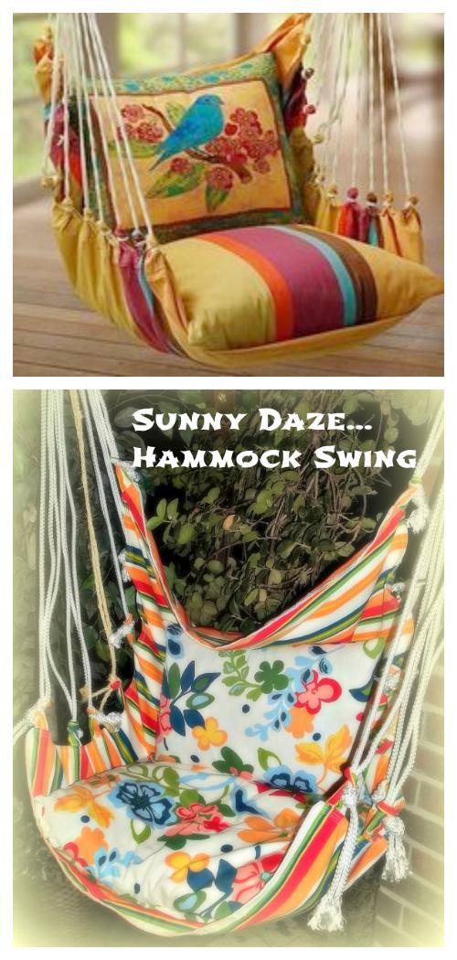 Easy Fabric Hammock Swing DIY Tutorials