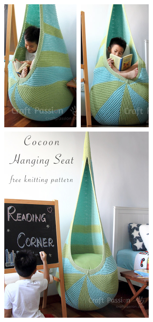 DIY Knit Cocoon Hammock FREE knitting pattern
