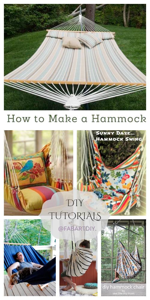 10 Easy Fabric Hammocks DIY Tutorials for Summer Joy