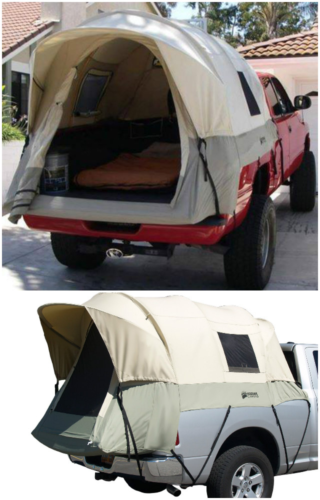 10 Camping Tips and Gadgets You'll Love This Summer-Camping Truck Bed Tent
