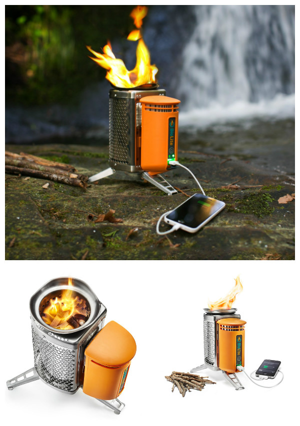 10 Camping Tips and Gadgets You'll Love This Summer -BioLite Wood Burning Campstove with USB Charge Supply