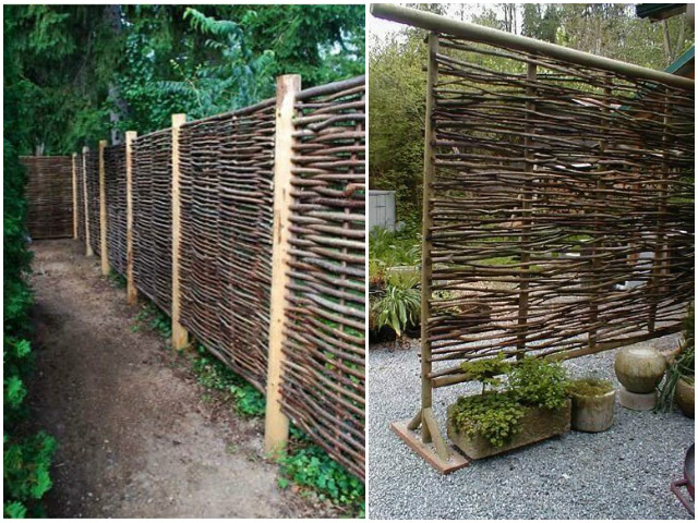 10 DIY Patio Privacy Screen Projects Free Plan-Wattle Privacy Screen