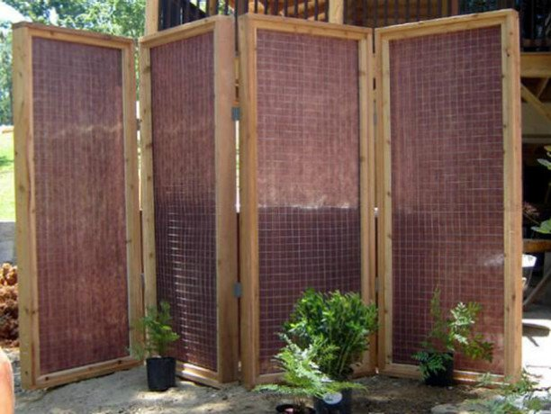 10 DIY Patio Privacy Screen Projects Free Plan-DIY Mesh Fabric Panel Privacy Screen