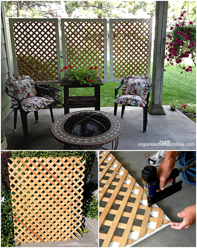 Superior 10 DIY Patio Privacy Screen Projects Free Plan DIY Easy Lattice Patio  Privacy Screen