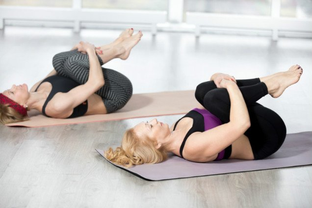 10 Easy Yoga Poses To Reduce Belly Fat - Wind Easing Posture