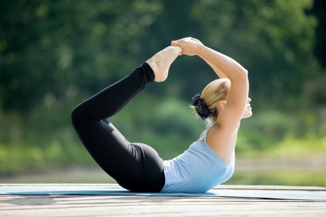 10 Easy Yoga Poses To Reduce Belly Fat - Bow Posture