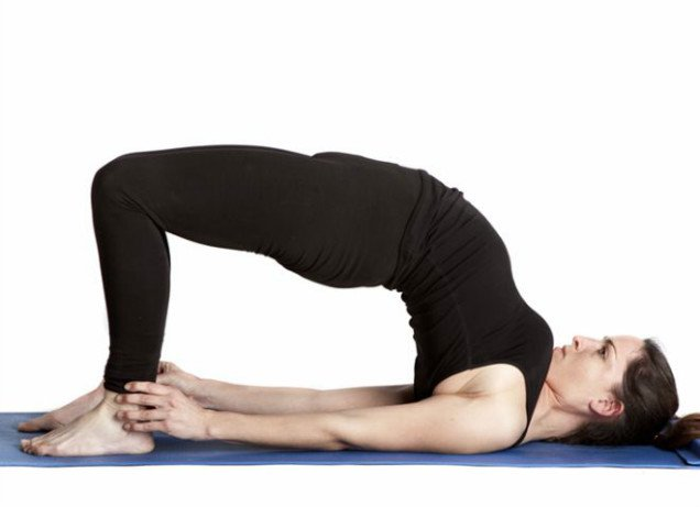 10 Easy Yoga Poses To Reduce Belly Fat -Bridge Posture