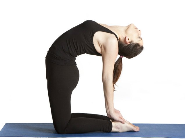 10 Easy Yoga Poses To Reduce Belly Fat -Camel Pose
