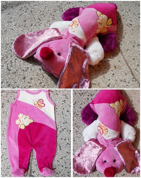 DIY Baby Onesie Dog Keepsake Stuffed Toy Tutorial
