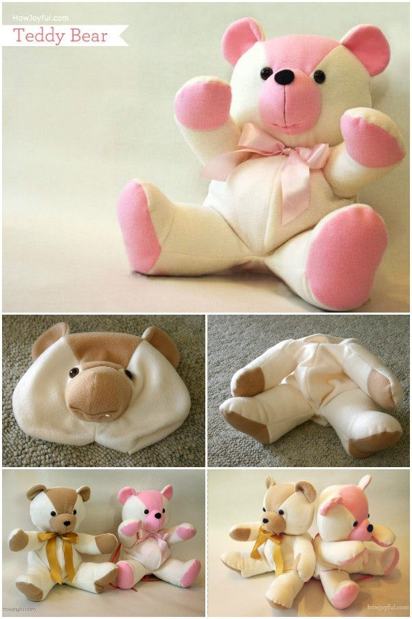 DIY Baby Onesie Teddy Bear Free Sew Pattern & Tutorial