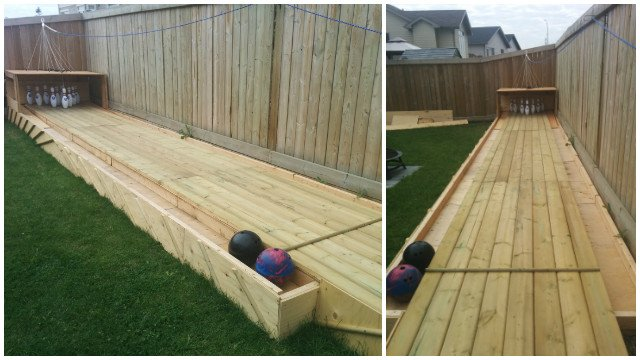DIY Backyard Wood Bowling Alley Free Plan