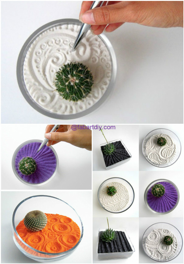 DIY Colorful Sand Terrarium Tutorials -DIY Zen gardens - DIY Colorful Sand Terrarium Tutorials