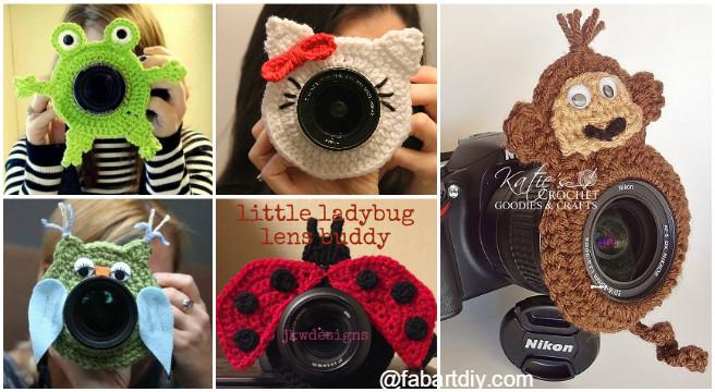 DIY Crochet Camera buddy Free Pattern Round Up