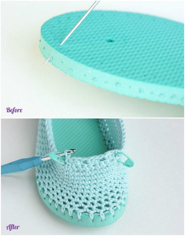 Diy Crochet Slipper With Flip Flop Sole Pattern Free