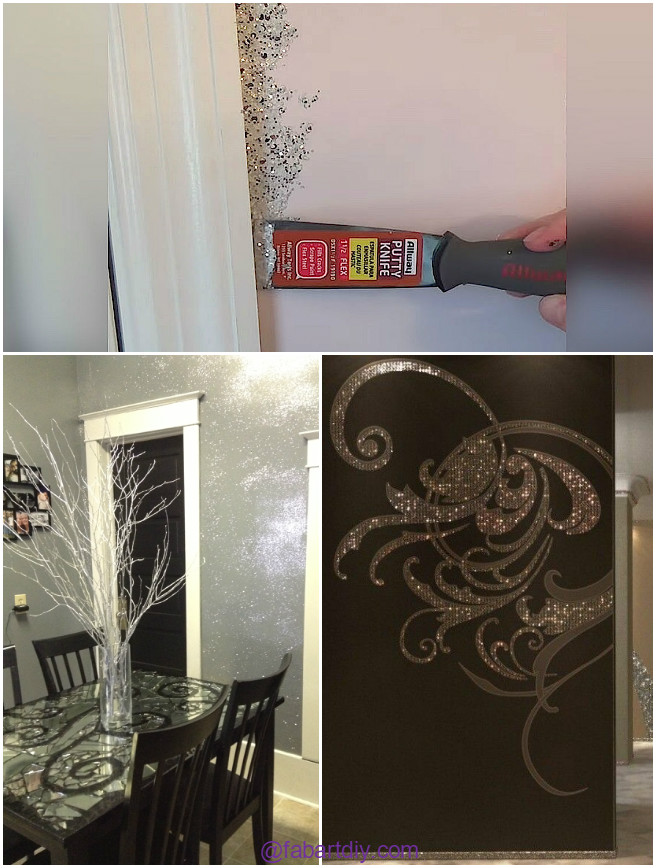 Diy glitter wall with mod podge video for Diy using mod podge