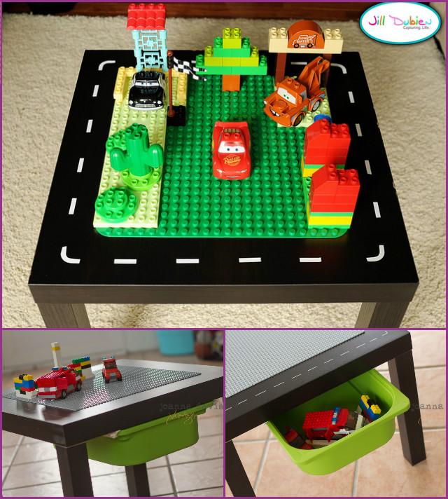 DIY IKEA Lego Play Table with TROFAST bin