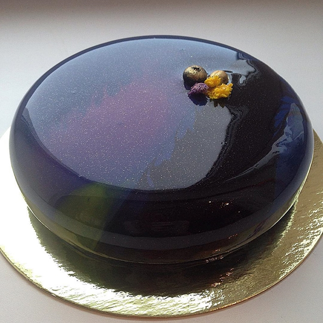 Diy Mirror Glaze Cake Marble Decorating By Olga