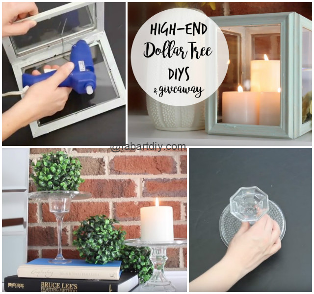 dollar tree hack diy picture frame lantern pedestal video