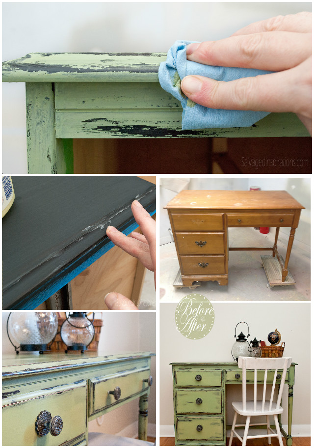 Distress Wood Furniture Using Vaseline Easily
