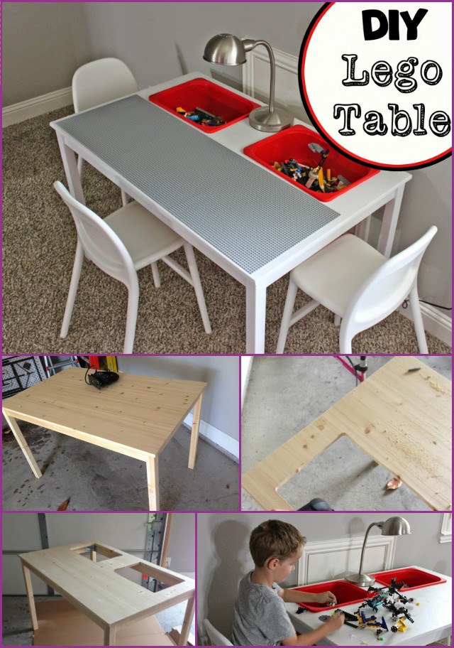 Transform IKEA Dinning Table Into Lego Play Table Tutorial
