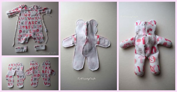 DIY Baby Onesie Clothes Stuffed Keepsake Teddy Bear Tutorial
