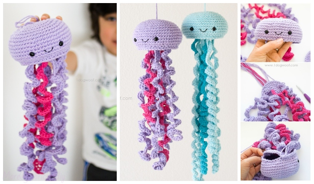 DIY Crochet Jellyfish Pattern Free (Video) f52ad212d63d