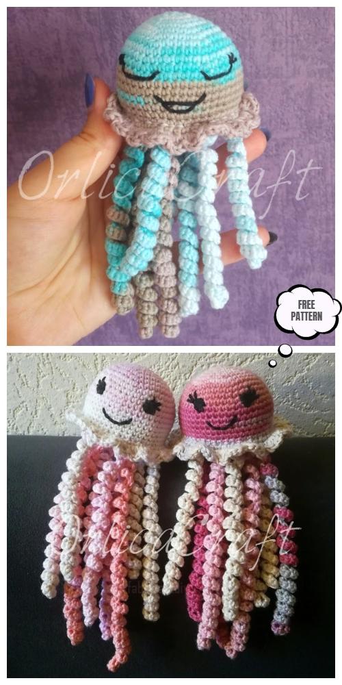 DIY Crochet Jolly Jellyfish Toy Amigurumi Free Patterns -Video
