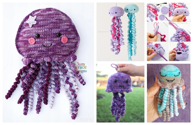 Crochet Jellyfish | Crocheted jellyfish, Crochet octopus, Crochet | 400x616