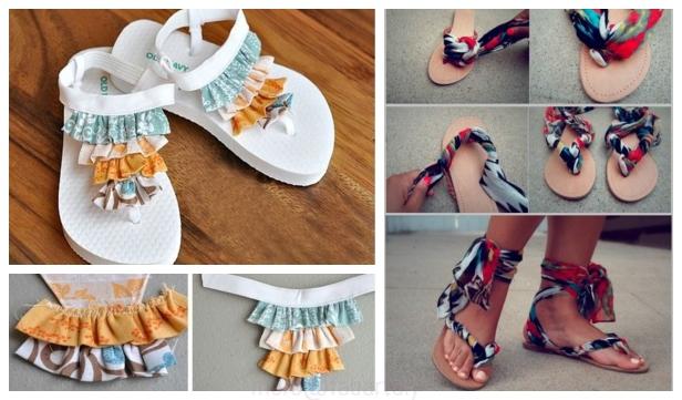 2b246107344b53 12 DIY Summer Flip Flop Makeover Refashion Ideas Tutorials