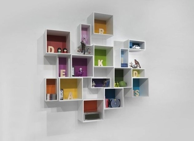 20 Cube Organizer DIY Ideas To De-clutter Your Whole House- Alphabetical shelving