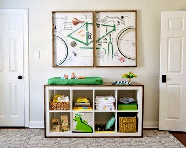 20 Cube Organizer DIY Ideas To De-clutter Your Whole House-Baby Changing Table Station