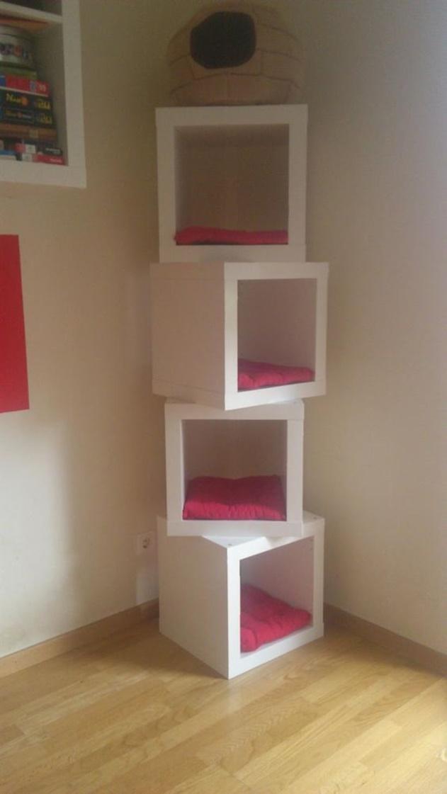 20 Cube Organizer DIY Ideas To De-clutter Your Whole House-Cat House