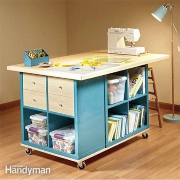 20 Cube Organizer DIY Ideas To De-clutter Your Whole House-Cube Shelf Craft Table