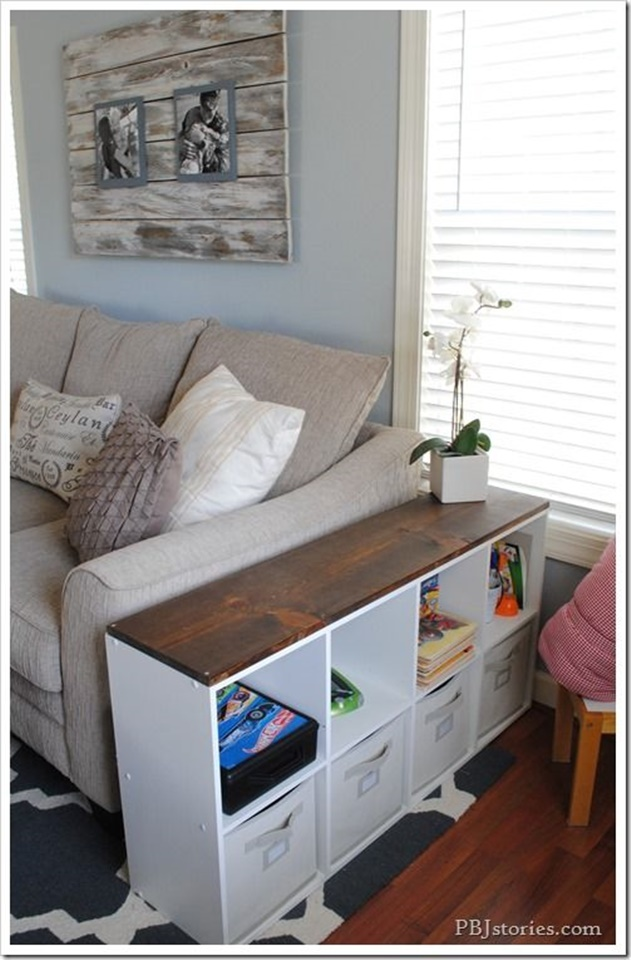 20 Cube Organizer DIY Ideas To De-clutter Your Whole House-End Table