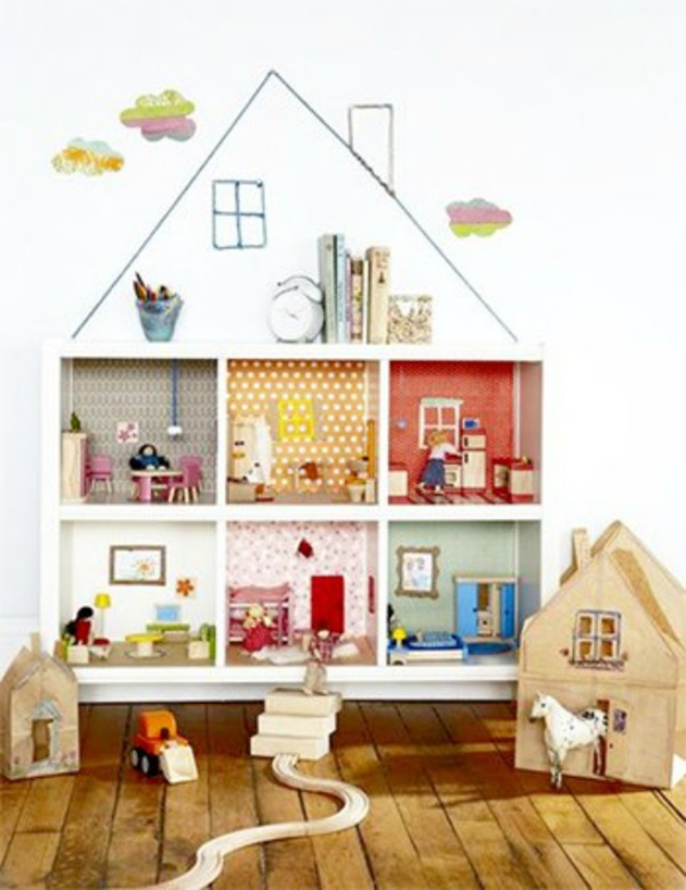 20 Cube Organizer DIY Ideas To De-clutter Your Whole House-Kids Doll House