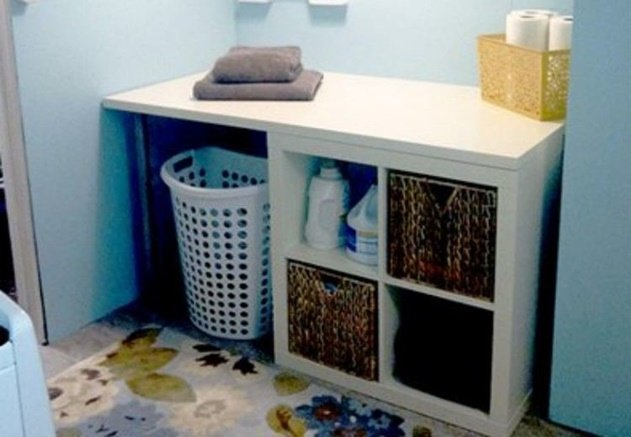 20 Cube Organizer DIY Ideas To De-clutter Your Whole House-Laundry Room Storage