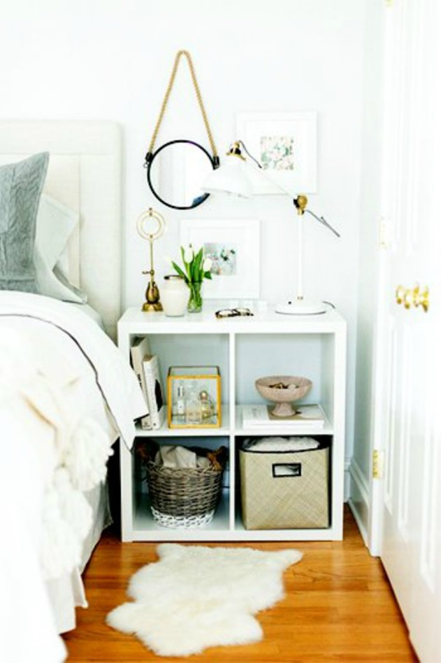 20 Cube Organizer DIY Ideas To De-clutter Your Whole House-Nightstand