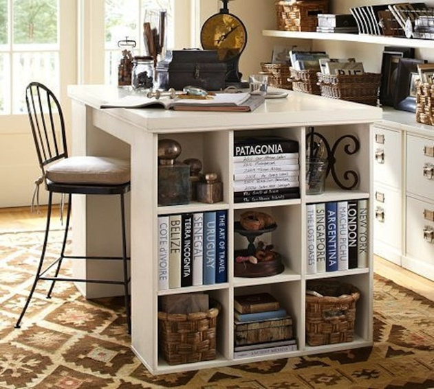 20 Cube Organizer DIY Ideas To De-clutter Your Whole House-Office Table