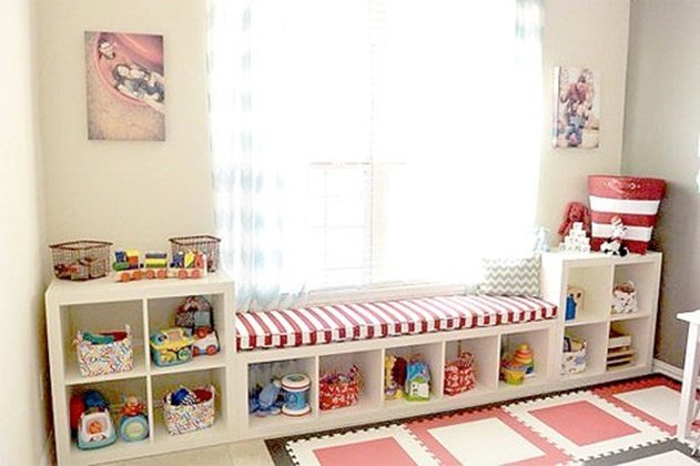 20 Cube Organizer DIY Ideas To De-clutter Your Whole House-Playroom Storage