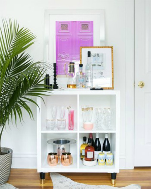 20 Cube Organizer DIY Ideas To De-clutter Your Whole House-Rolling Bar
