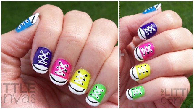 DIY Converse Nail Art Design Manicure Ideas and Tutorials