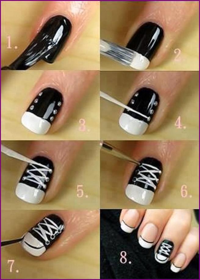 91864746801a DIY Converse Nail Art Design Manicure Ideas and Tutorials