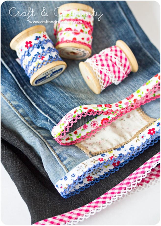 DIY Cuffed Cut Off Jean Shorts Tutorial
