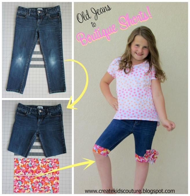 DIY Cuffed Cut Off Jean Shorts Tutorials