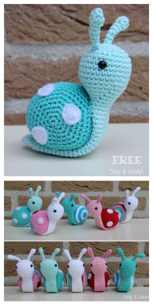 DIY Crochet Snail Amigurumi Free Patterns