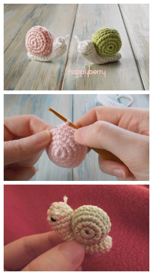 DIY Crochet Snail Amigurumi Free Patterns Video Tutorial