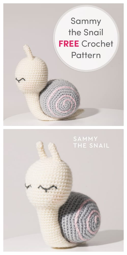 DIY Crochet Sami the Snail Amigurumi Free Patterns