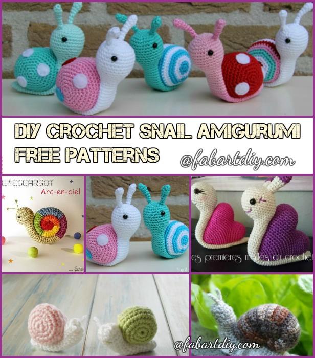 DIY Crochet Snail Amigurumi Free Patterns