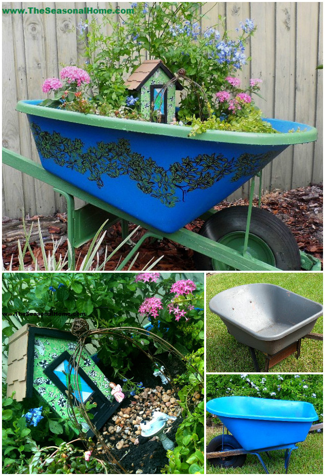 DIY Miniature Secret Wheelbarrow Fairy Garden Tutorial - video